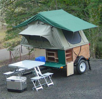Compact Camping Trailer Explorer Box Roof Top Tent