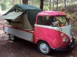 Compact Camping Trailers - Roof Top Tent on Volkswagon Van Pickup Truck