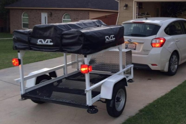 Compact Camping Trailers - Trailer Racks No Weld Trailer Racks Customer Erics Trailer
