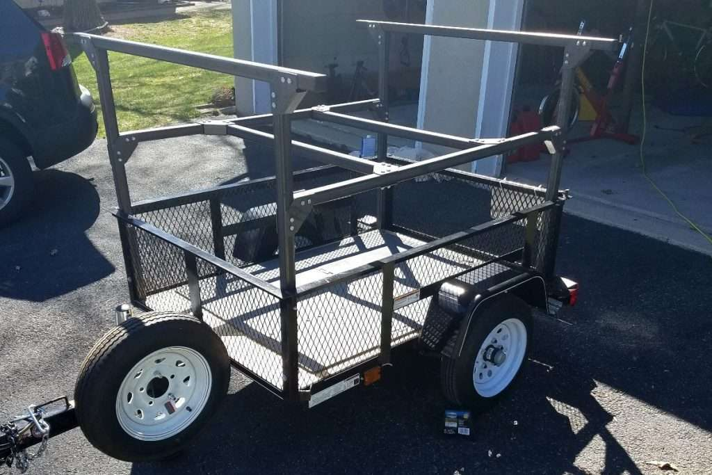 Trailer Racks build at home DIY Utility Trailer