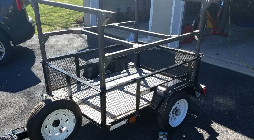 Trailer Racks build at home DIY