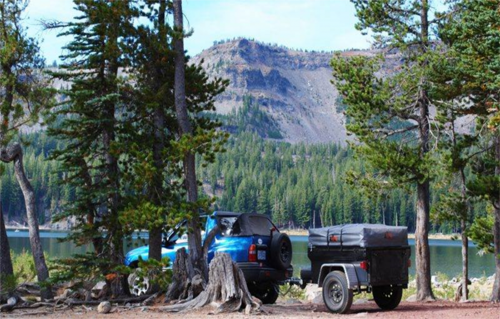 compact camping Trailer Gallery camping by lake