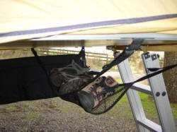 Roof Top Tent Accessory Shoe Hammock to hang shoes outside the tent