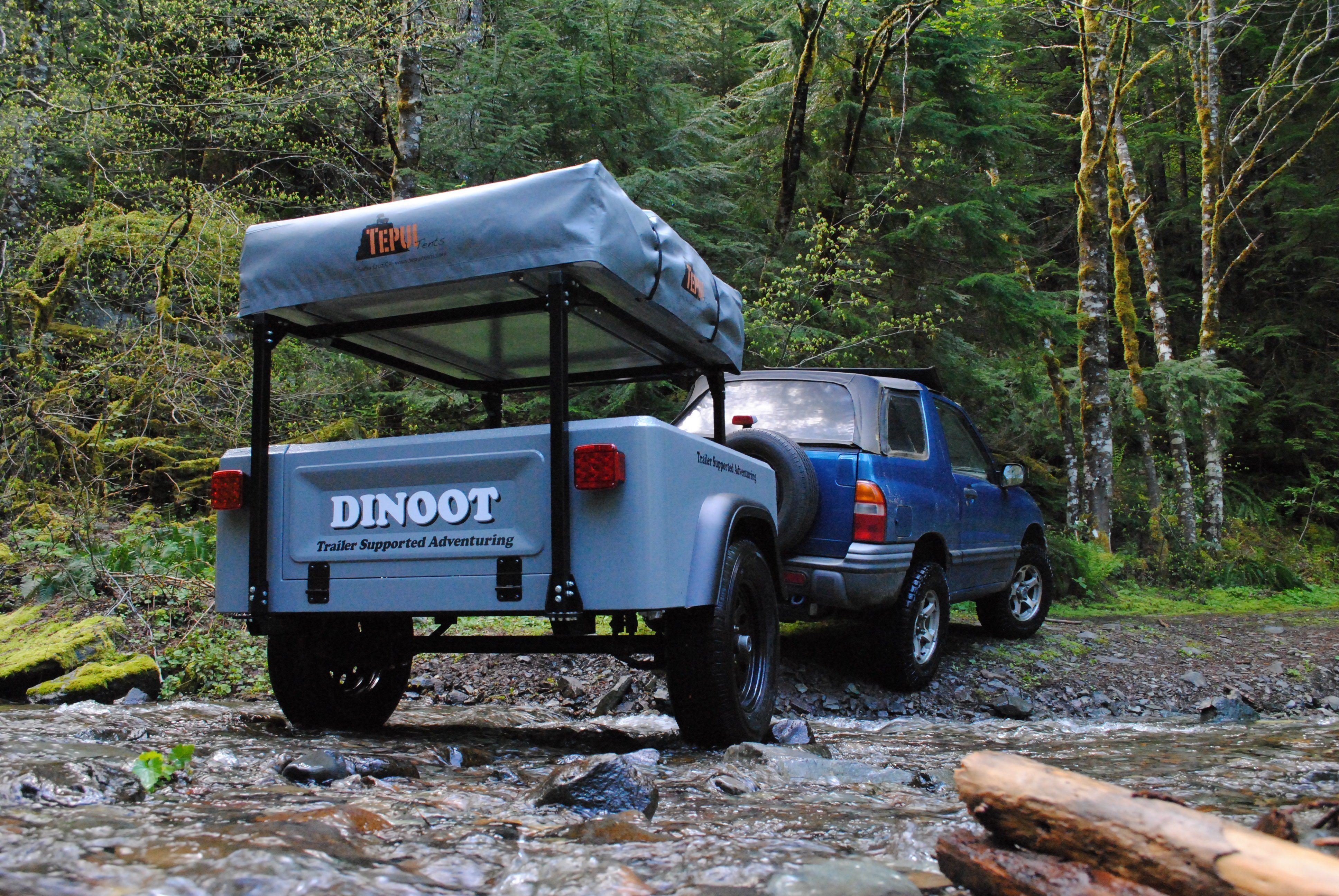 Dinoot Jeep Trailer by Compact Camping Trailers