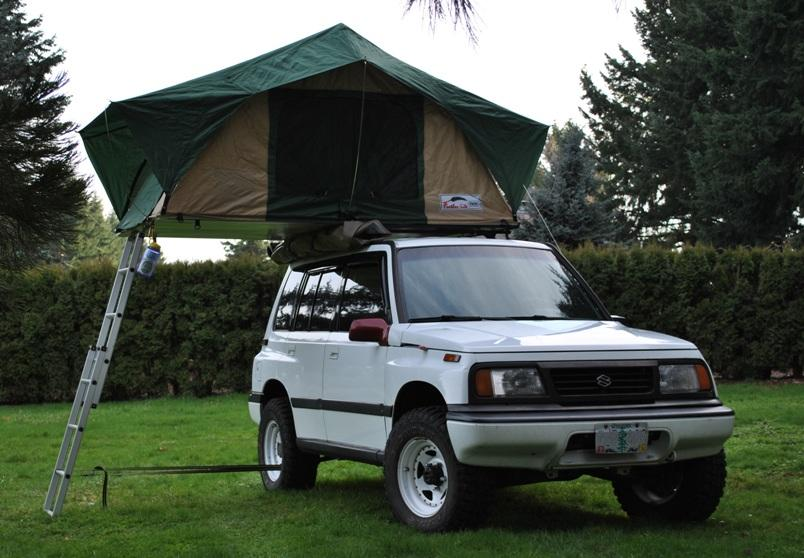 Roof Top Tent on Suzuki Sidekick