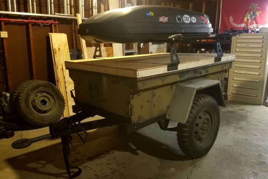 No Weld Trailer Racks on M416 M101 Trailers by Compact Camping Concepts