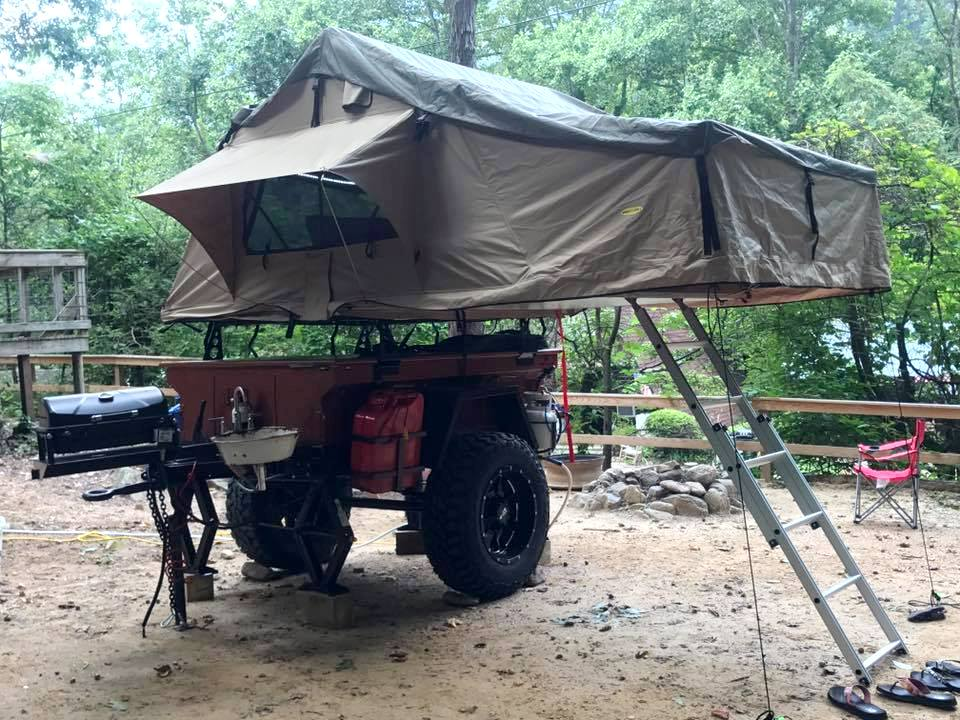 No Weld Racks with Roof Top Tent by Customer