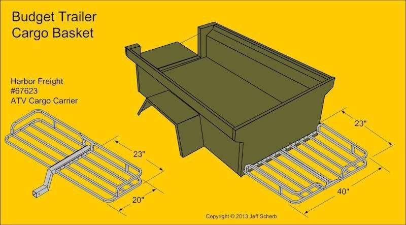 M416 Trailer Build Tongue Cargo Basket