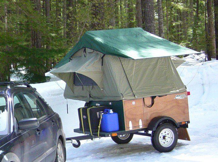 Compact Camping Trailer Explorer Box Snow Camping