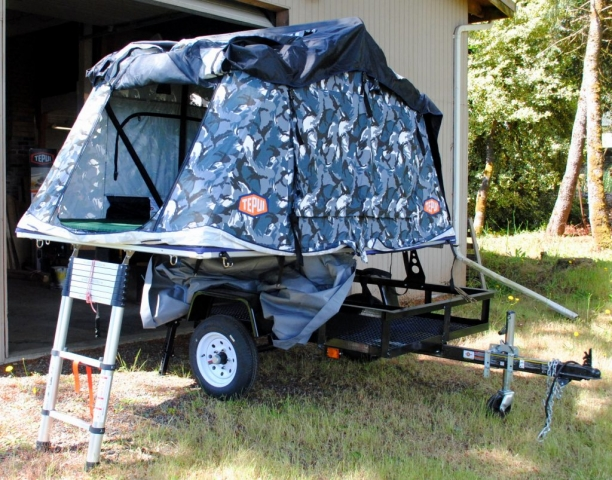 Trailer Rack for Roof Top Tent Utility Trailer