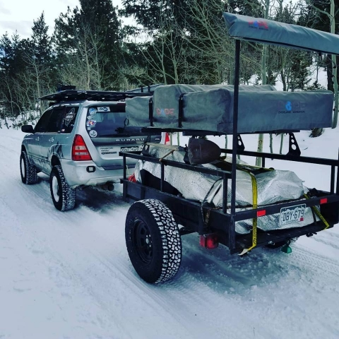 Trailer Rack Roof Top Tent Awning